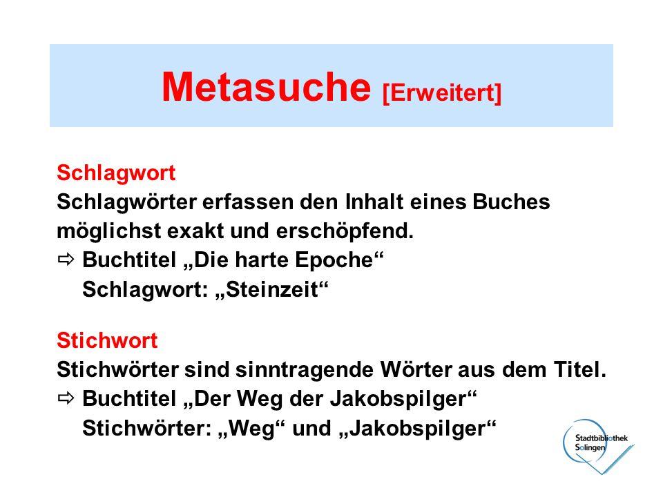 Metasuche [Erweitert]